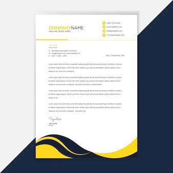 Identidade corporativa do projeto do modelo de papel timbrado comercial.