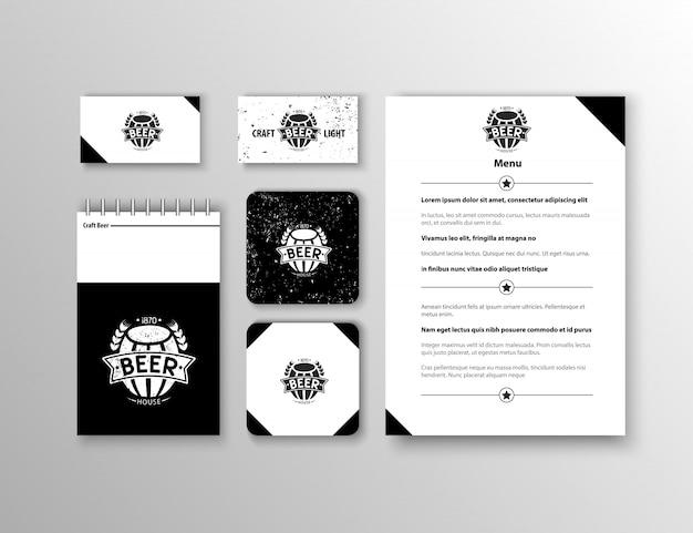 Identidade corporativa. modelo de design de papelaria clássico. documentação para negócios.