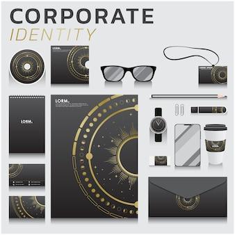 Identidade corporativa para design de negócios e marketing