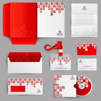 Identidade corporativa vermelha