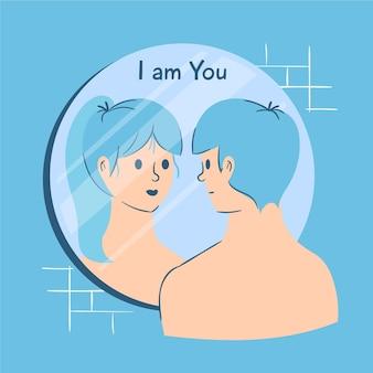 Identidade de gênero ilustrada conceito conceito
