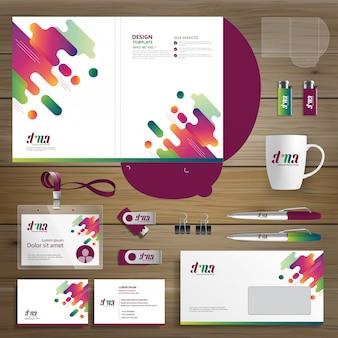 Identidade de modelo de pasta de design de negócios corporativos