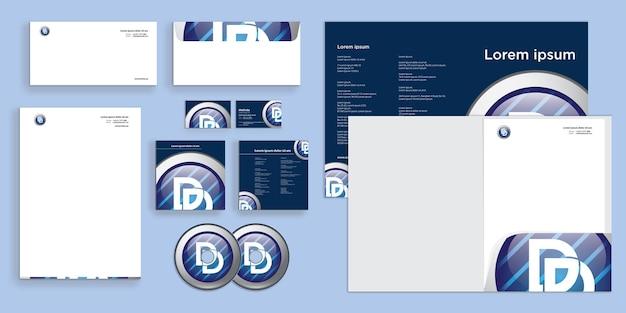 Identidade de negócios corporativos modernos e elegantes do círculo abstrato estacionário