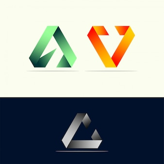 Identidade impressionante do logotipo do triângulo