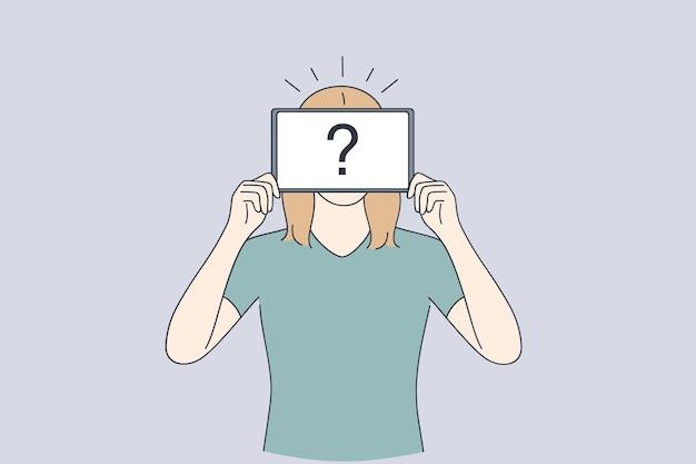 Identidade própria, anonimato, conceito de incerteza