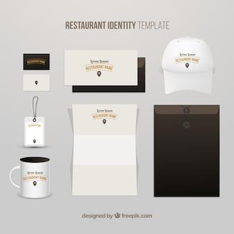 Identidade restaurante agradável com uma tampa