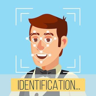 Identificação biométrica da face
