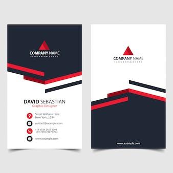 Identificação de forma vermelha, corporativa e cartão de visita. modelos de cartão de nome elegante. cartão de visita criativo moderno com formas abstratas.