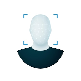 Identificação de rosto, identificação de rosto, verificação de identidade, identificação biométrica