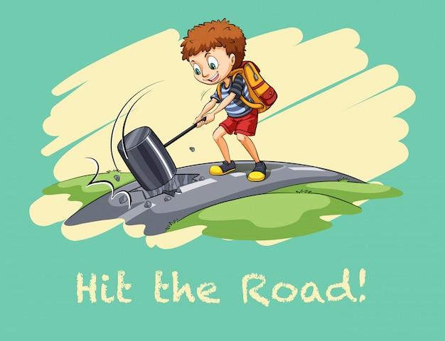 Idiom pegar a estrada
