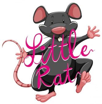 Idioma do rato de litte com texto