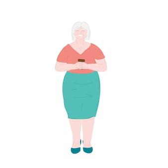 Idosa idosa avó e aposentada idosa cabelos grisalhos ativo linda vovó g