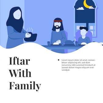 Iftar com família ramadan kareem