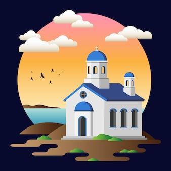Igreja grega da ilha de kos