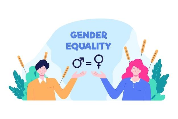 Igualdade de gênero ilustrada