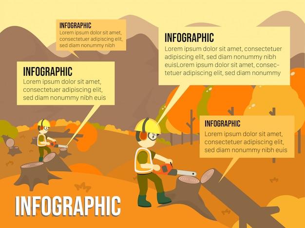Ilegal logging illustration