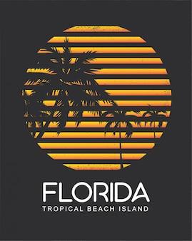 Ilha da praia tropical da flórida