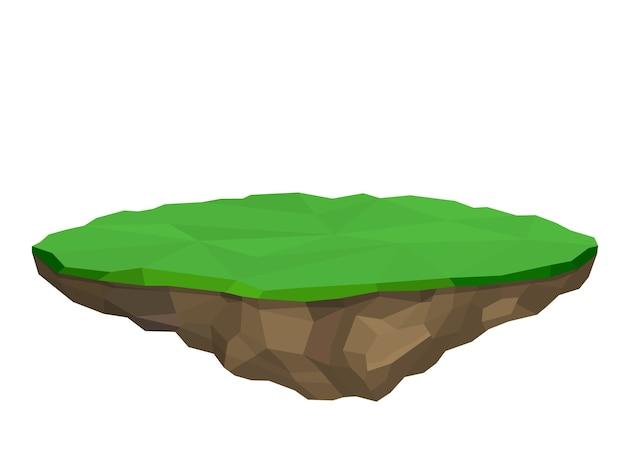 Ilha flutuante isolada no branco
