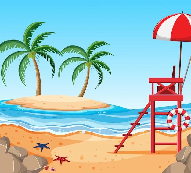 Ilha linda praia tropical