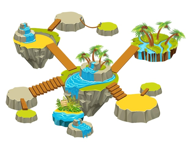 Ilhas com jardim.
