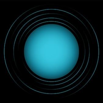 Illlustration abstrata de círculos azuis