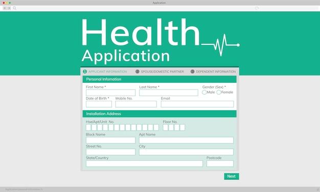 Illustation da aplicação da saúde