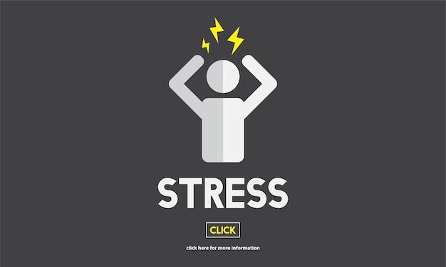 Illustation de emoção de estresse