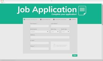 Illustation de pedido de emprego