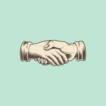 Illustation de um aperto de mão