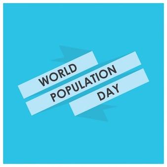 Illustrationbanner vector ou um cartaz do dia da população mundial