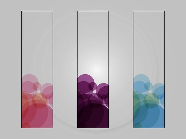Illustrator círculo colorido banners vector