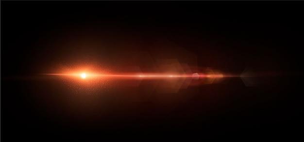 Iluminação abstrata de uma estrela cósmica ou galáxia sol brilhando com reflexos e reflexos