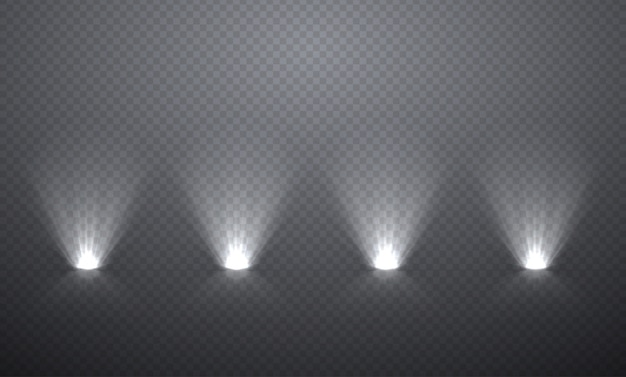 Iluminação de cena a partir de baixo, efeitos transparentes
