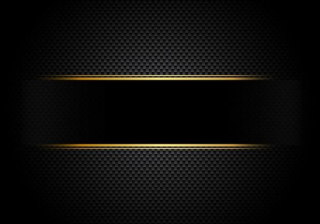 Iluminação de fundo de fibra de carbono com rótulo preto