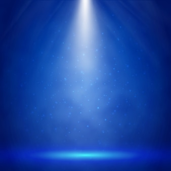 Iluminação de palco azul com fundo holofotes
