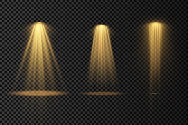 Iluminação de palco projeta efeitos de luz do projetor de cena iluminação branca brilhante com holofote