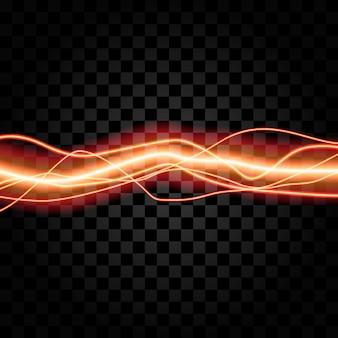 Iluminação trovão elétrico tempestade brilho vetor de brilho