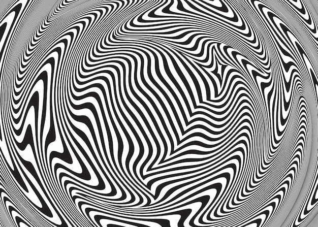 Ilusão de ótica abstrata. fundo espiral trançado