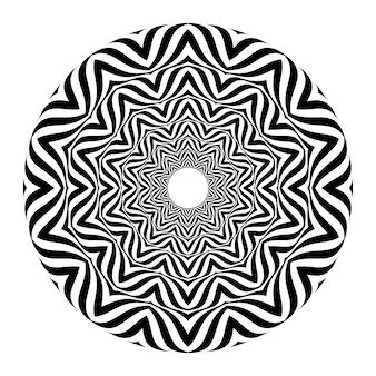 Ilusão de ótica abstrata preto e branco