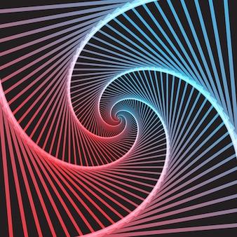 Ilusão de ótica abstrata