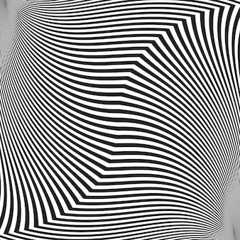 Ilusão de ótica, abstrato fundo torcido