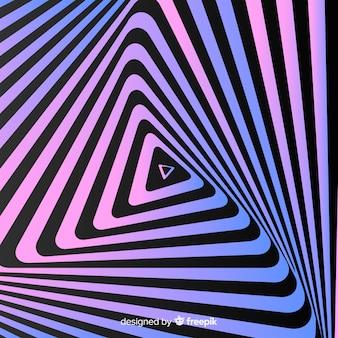 Ilusão de ótica fundo liso ondulado