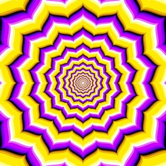 Ilusão de ótica hipnótica abstrata