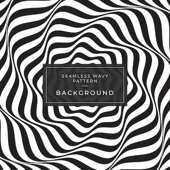 Ilusão de ótica linhas abstratas fundo anúncios instagram geométrico preto e branco padrão de linha eps10