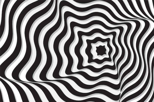 Ilusão de ótica psicodélica de fundo