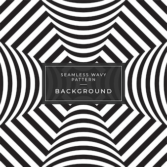 Ilusão de ótica resumo linhas fundo cartaz facebook geométrica padrão de linha preto e branco eps10