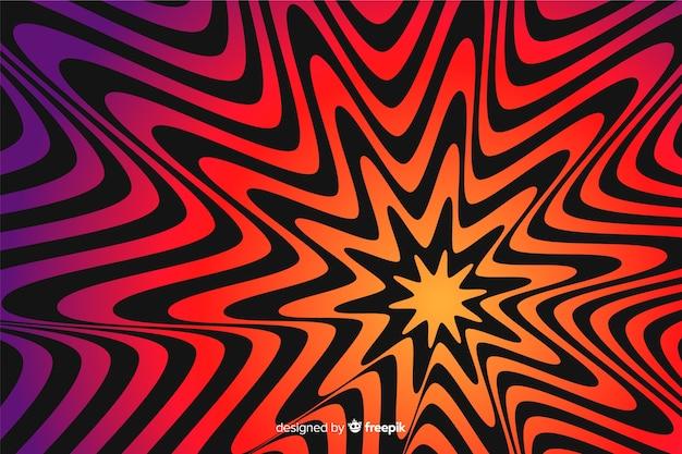 Ilusão efeito estrela plano de fundo