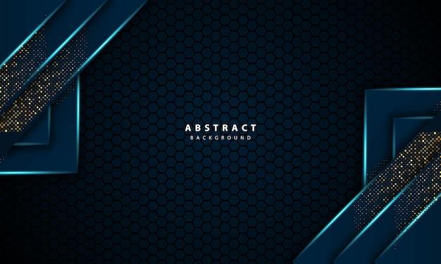 Ilustração 3d abstrata em vetor hexágono azul claro de fundo de luxo