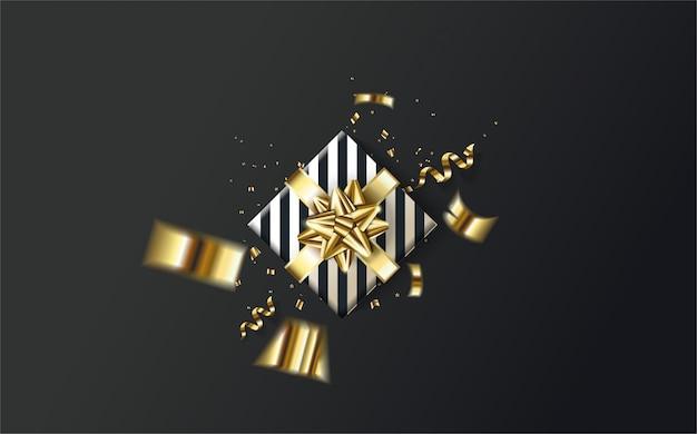 Ilustração 3d da caixa de presente