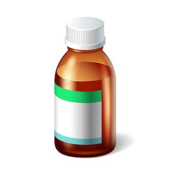 Ilustração 3d de frasco médico